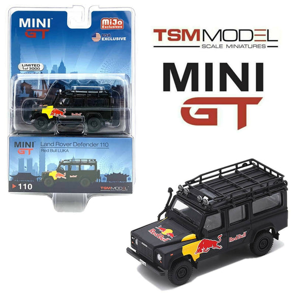 Mini GT #110 1:64 Mijo Exclusive Land Rover Defender 110 Red Bull LUKA Limited 3,000 Pieces