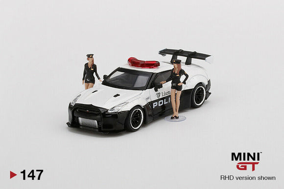 MINI GT #147 NISSAN GT-R LIBERTY WALK RHD POLICE CAR