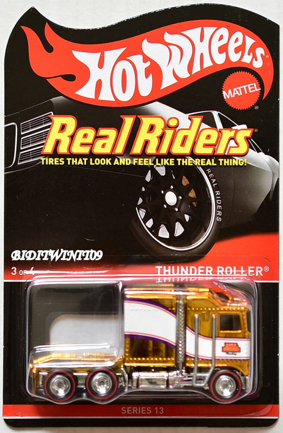 HOT WHEELS 2015 RLC REAL RIDERS SERIES 13 THUNDER ROLLER