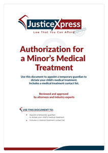 Authorization for a Minor's Medical Treatment