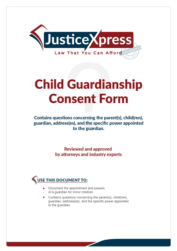 Child Guardianship Consent Form