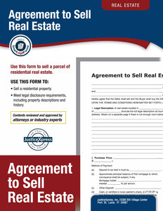 Agreement to Sell Residential Real Estate Forms Library