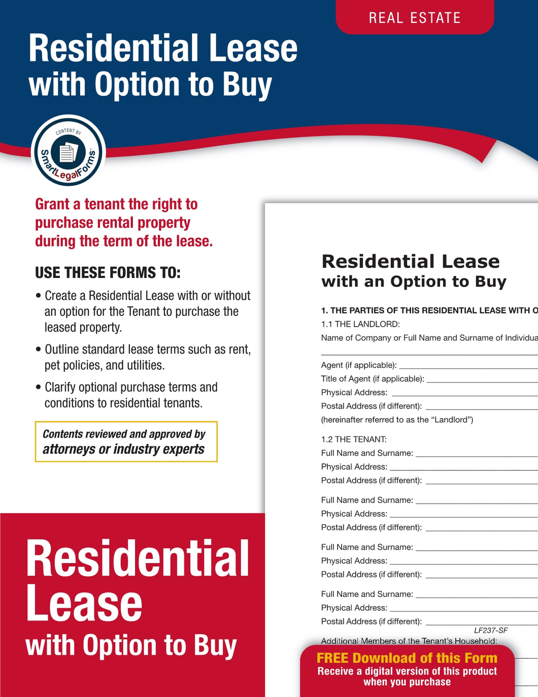 Residential Lease with Option To Purchase