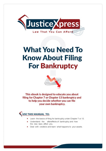 How to File for Chapter 7 or Chapter 13 Bankruptcy