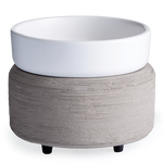 Gray and White Ceramic 2 in 1 Wax + Candle Melter