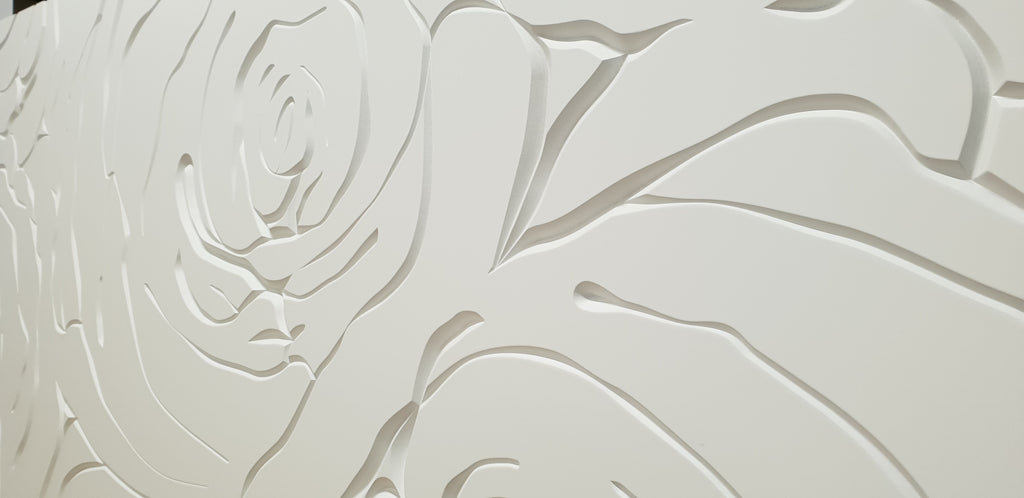 New Rose design 3d MDF wall panel