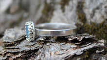 Load image into Gallery viewer, Blue Opal Stacker Ring-Rings-The Striped Cat Metalworks