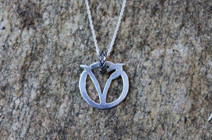 Dainty Circle V Necklace-Necklaces-The Striped Cat Metalworks