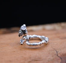 Load image into Gallery viewer, Honeybee on her Twig Ring