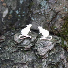 Load image into Gallery viewer, Little Inquisitive Rat Earrings-Earrings-The Striped Cat Metalworks