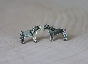 Miniature Horse Earrings-Earrings-The Striped Cat Metalworks