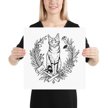 "Load image into Gallery viewer, Max the Cat ""Fancy Art Dos"" Poster"