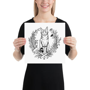 "Max the Cat ""Fancy Art Dos"" Poster"