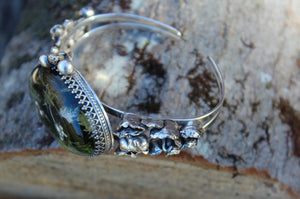 One of a Kind Mouse and Mushroom Forest Cuff-Cuffs-The Striped Cat Metalworks