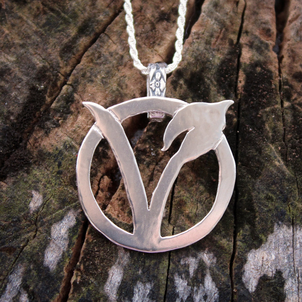Original Vegan Necklace-Necklace-The Striped Cat Metalworks