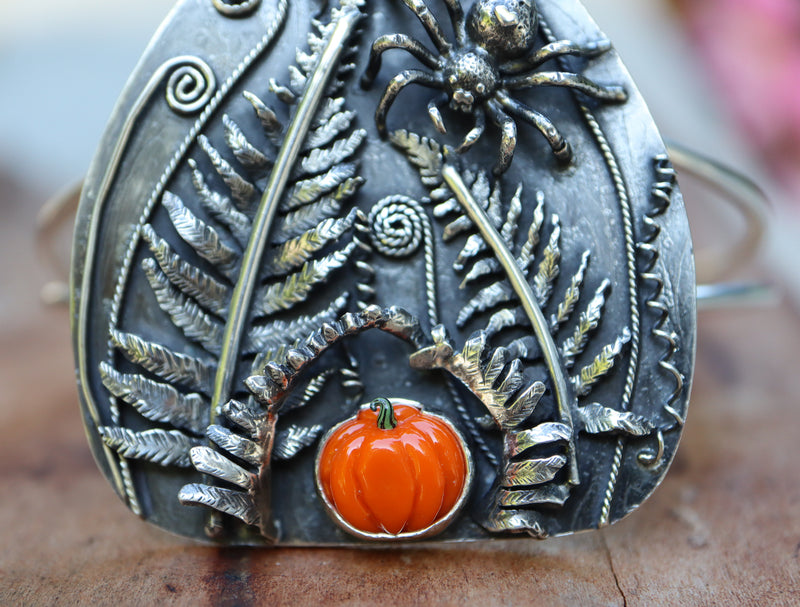 Pumpkin and Spider Bracelet