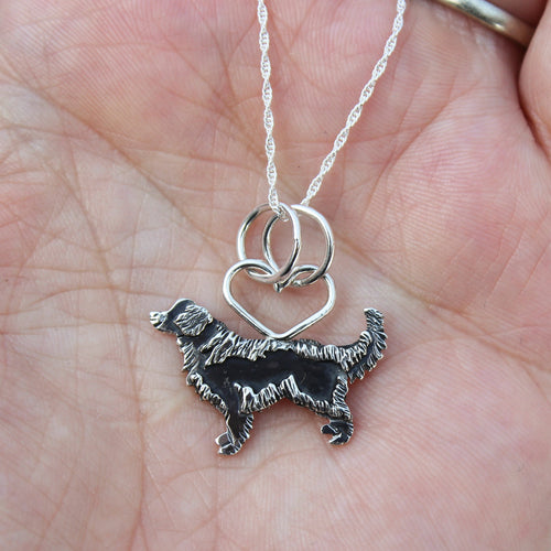 Sweet Golden Retriever Necklace-Necklaces-The Striped Cat Metalworks