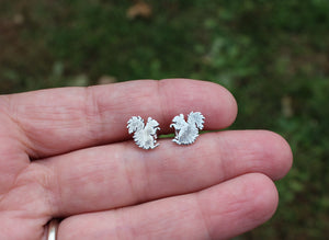Tiny Squirrel Stud Earrings-Earrings-The Striped Cat Metalworks
