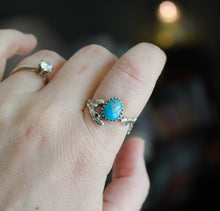 Load image into Gallery viewer, Turquoise with Pyrite Twig Ring-Rings-The Striped Cat Metalworks
