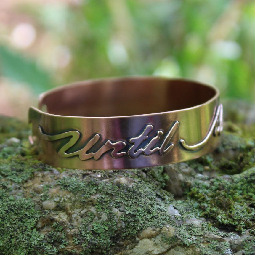 Until All Are Free Copper Cuff-Cuffs-The Striped Cat Metalworks