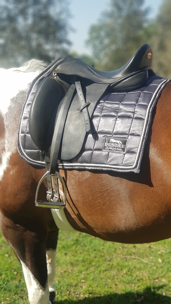 Grey Dressage Saddle Pad