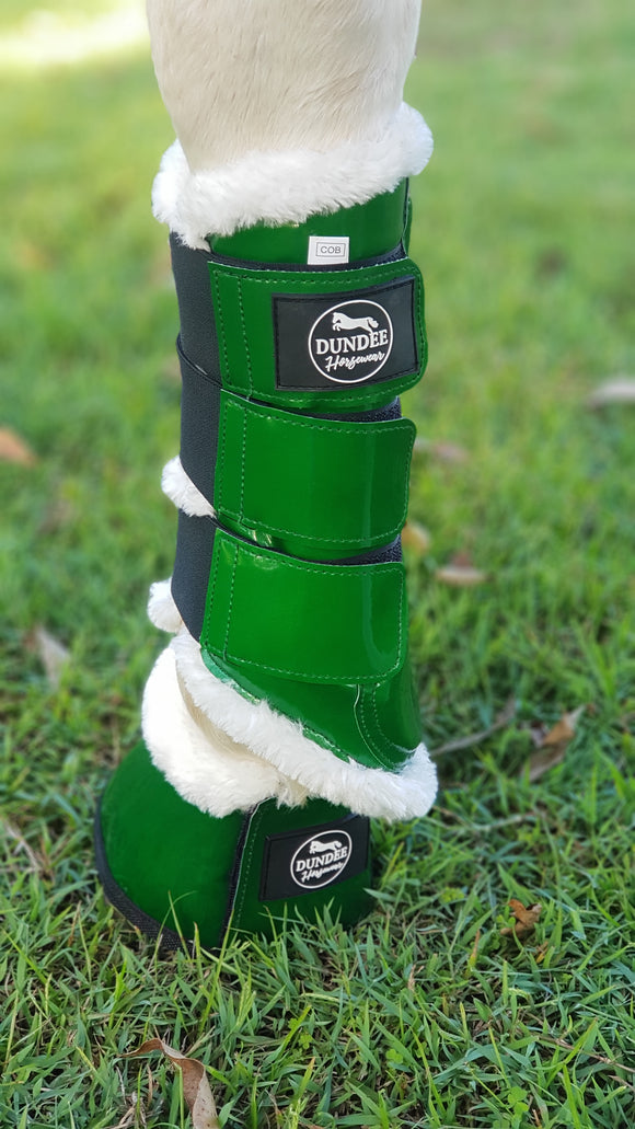 Hunter Green Brushing Boots