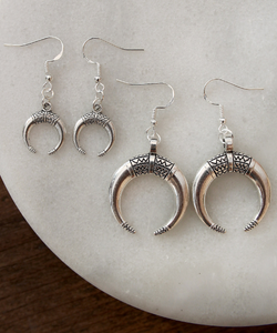 Aztec Crescent Earrings