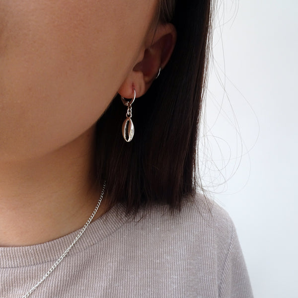 Shell Hoops - Gold/Silver