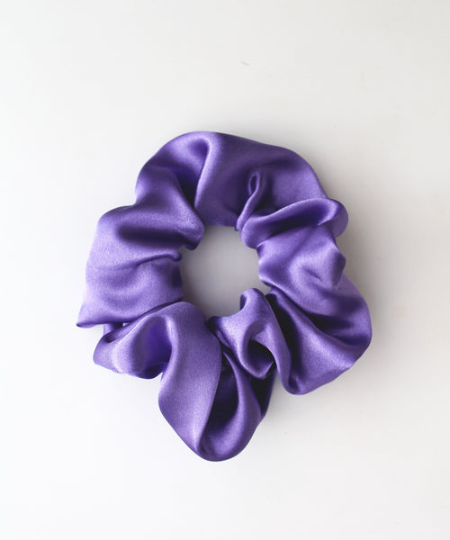Purple Satin Hair Band Scrunchie