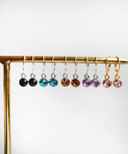 Colourful Stud Hoops