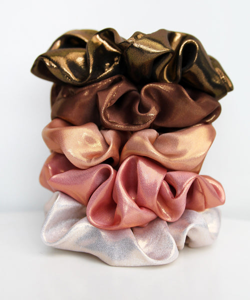 Metallic Satin Hair Band Scrunchie