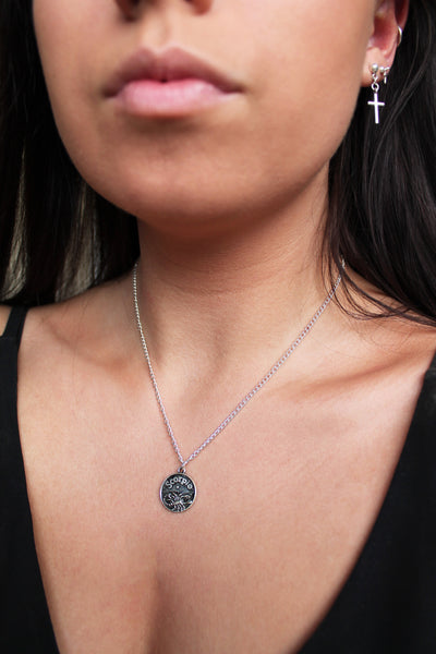 Zodiac Sign Coin Necklace - All 12 Available