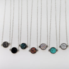 Load image into Gallery viewer, Round Druzy Necklaces