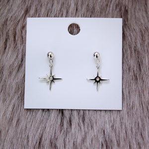 Silver Shining Star Earrings