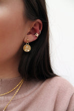 Load image into Gallery viewer, Golden Foil Dome Earrings