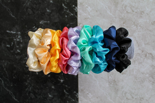 Pink Satin Hair Band Scrunchie