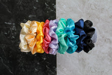 Load image into Gallery viewer, Mustard Satin Hair Band Scrunchie
