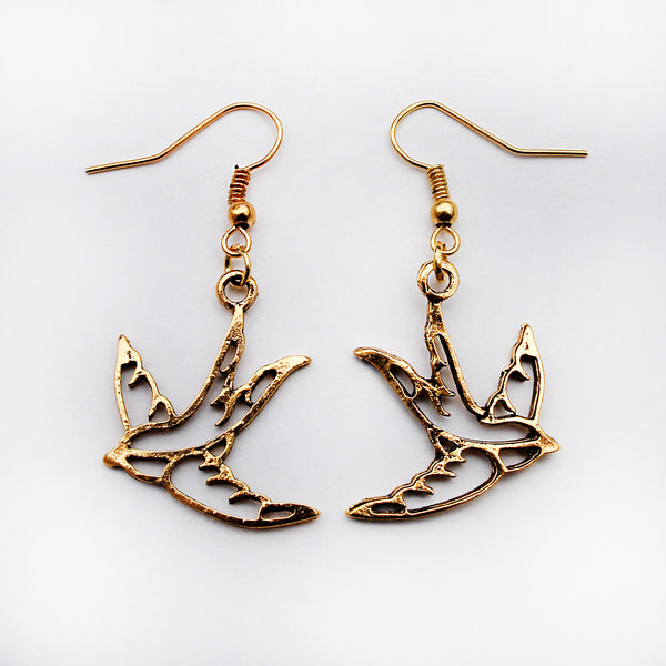 Swallow Gold Earrings