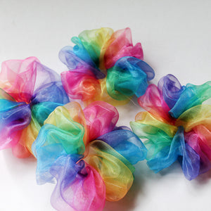 Rainbow Scrunchie