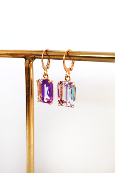 Glass Cube Hoops