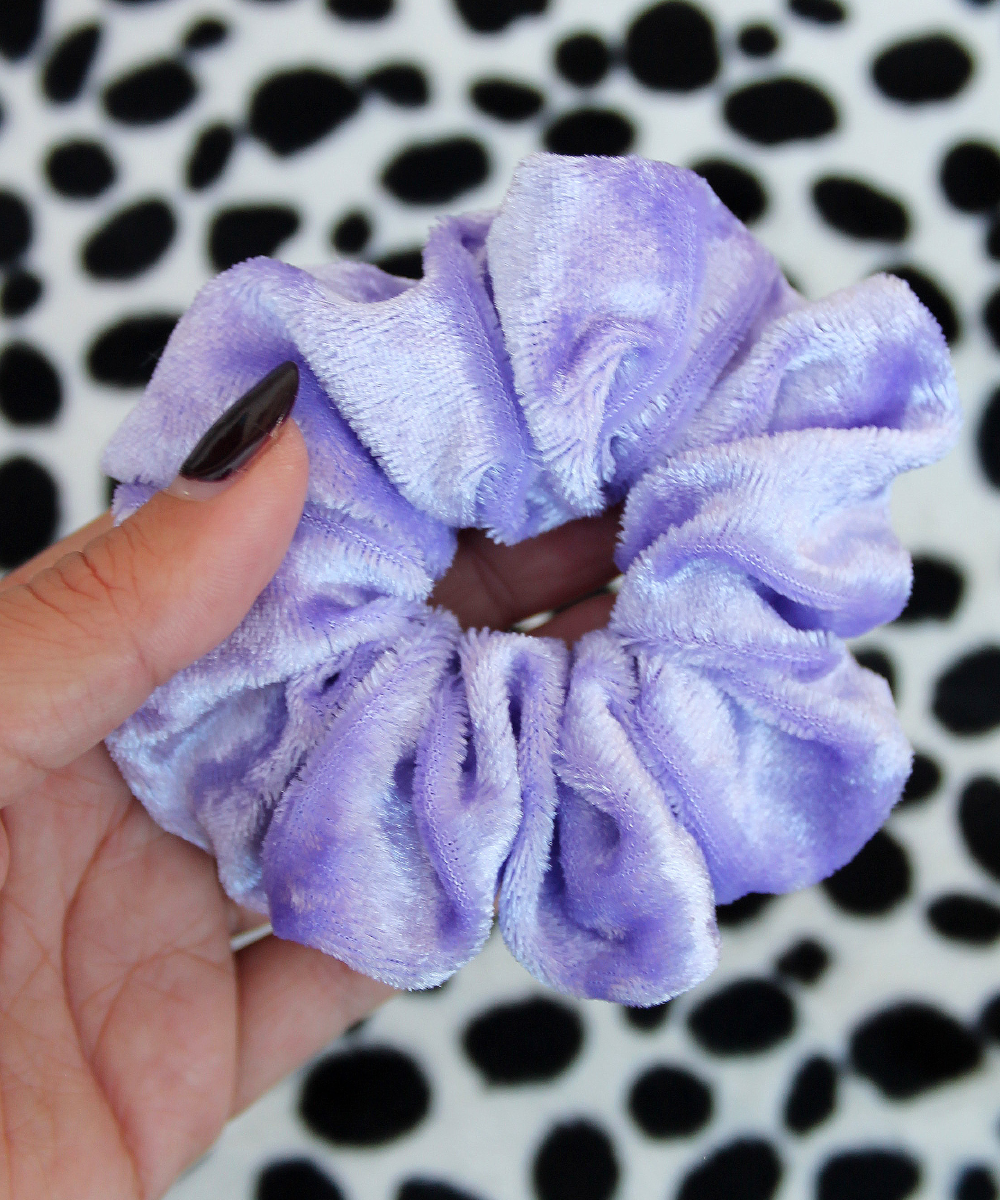 Lilac Purple Crushed Velvet Hair Band Scrunchie