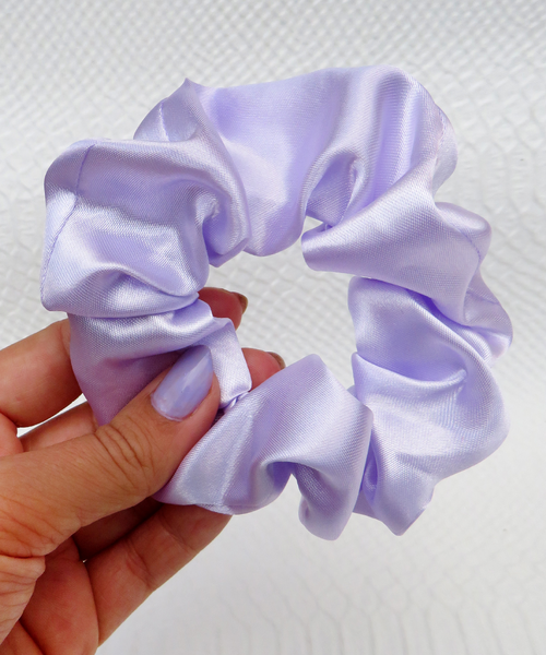 Lilac Satin Hair Band Scrunchie