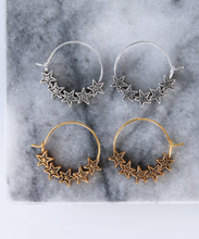 Load image into Gallery viewer, Star Hoops - Gold/Silver