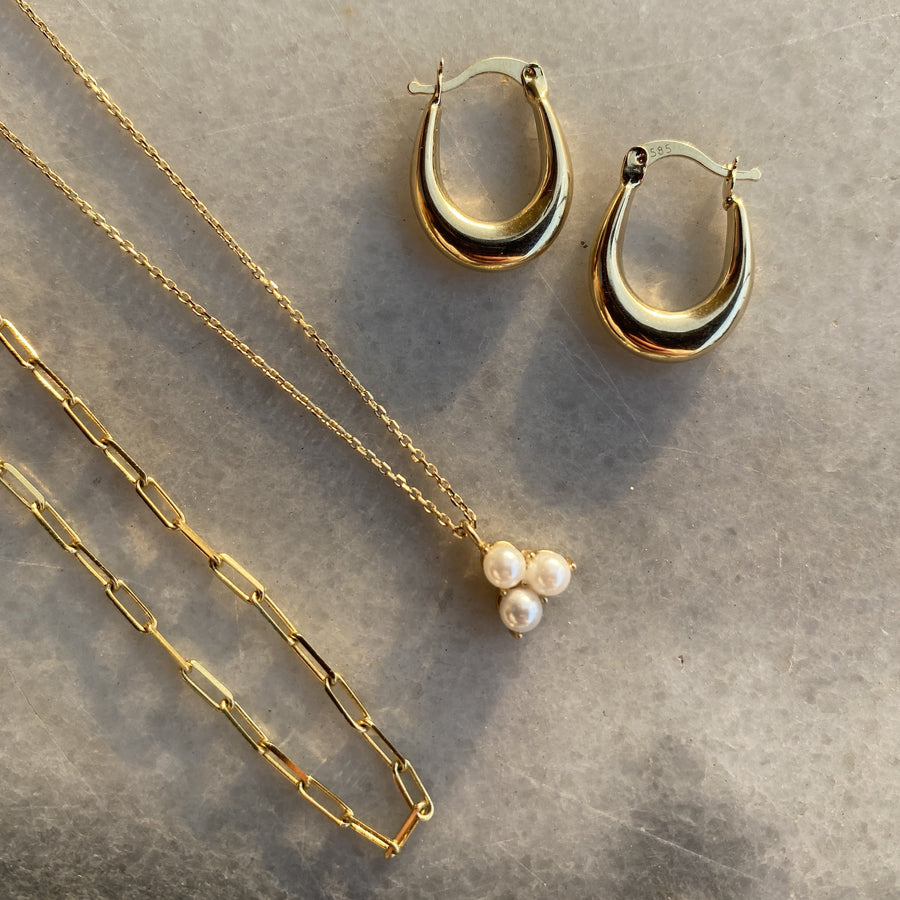 14k Kate Pearl Necklace