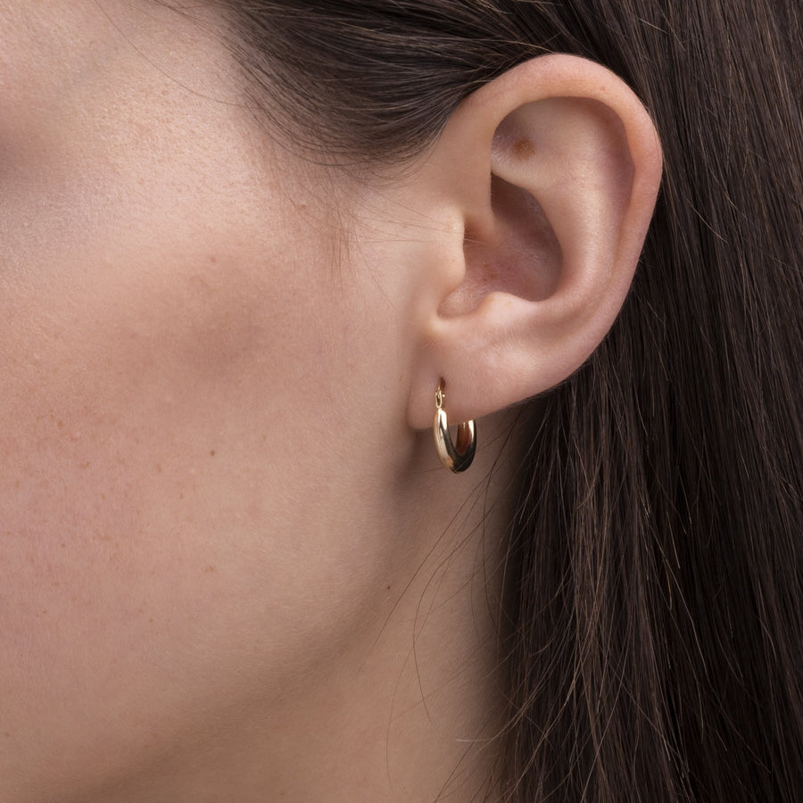 14k Solid Gold Hoops