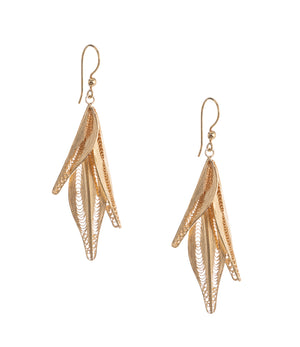 Gold Filigree Tamar Earrings