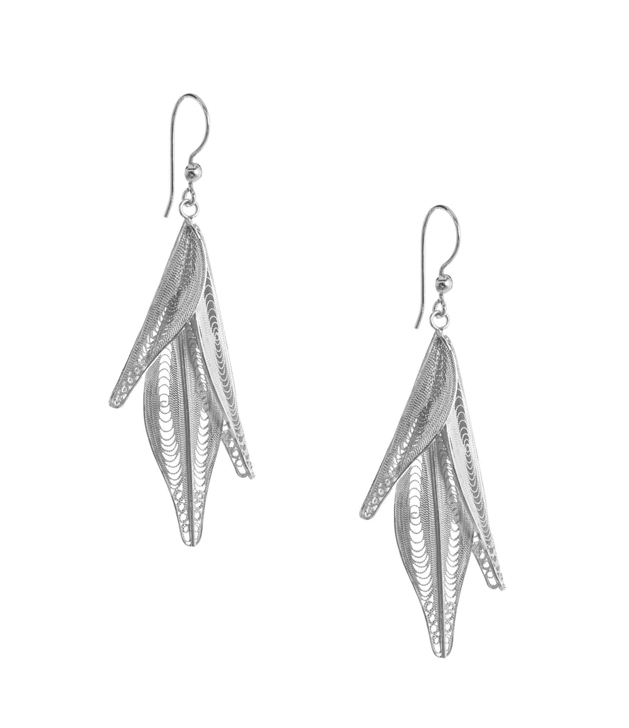 Silver Filigree Tamar Earrings