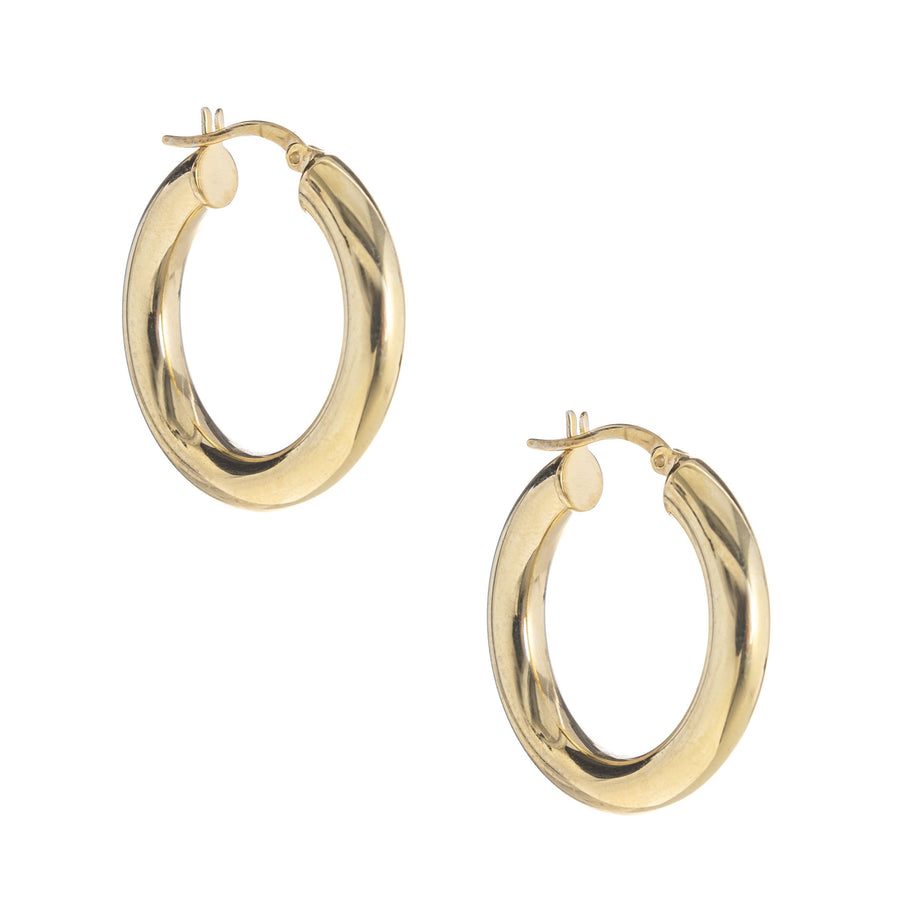 Thick Gold Hoops (large)
