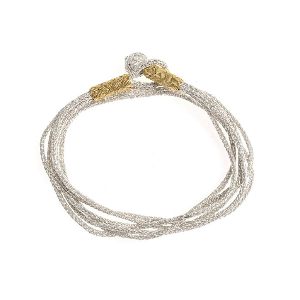 Emin Wrap-Around Bracelet (gold and white)