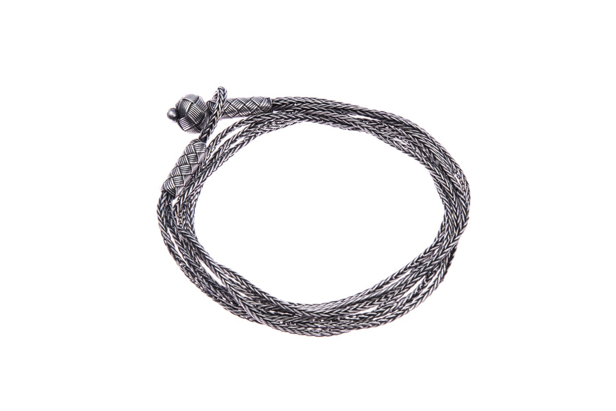 Silver Wrap-Around Bracelet (dark)